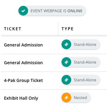 Registration Ticketing